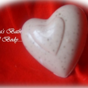Chocolate Valentine Heart Glycerin Soap