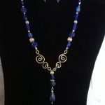 Wire Dangle Pendant Necklace Set - 25.00