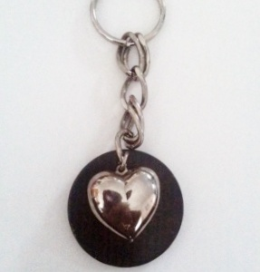 shungite heart key chain