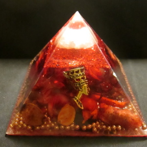 1.RED NEFERTITI AUDRANITE PYRAMID