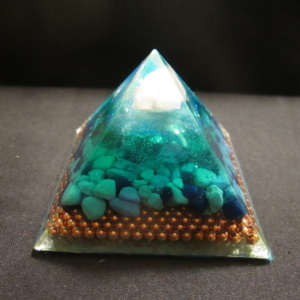 5. BLUE AND GREEN AUDRANITE PYRAMID