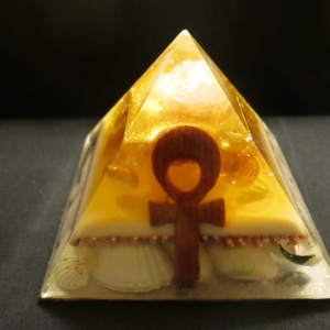 4.GOLD AND BEIGE ANKH AUDRANITE PYRAMID(1)